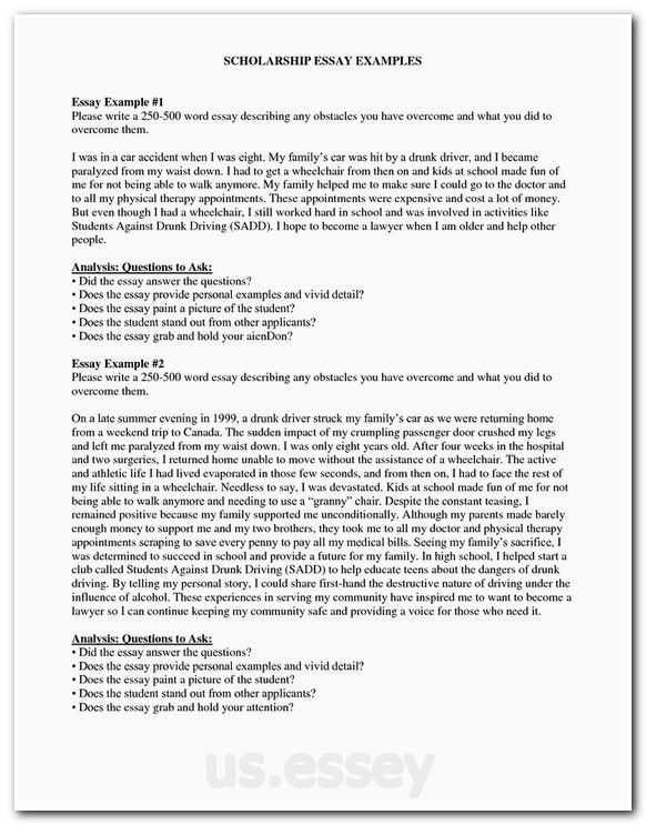 Writing college admission essay questions and answers