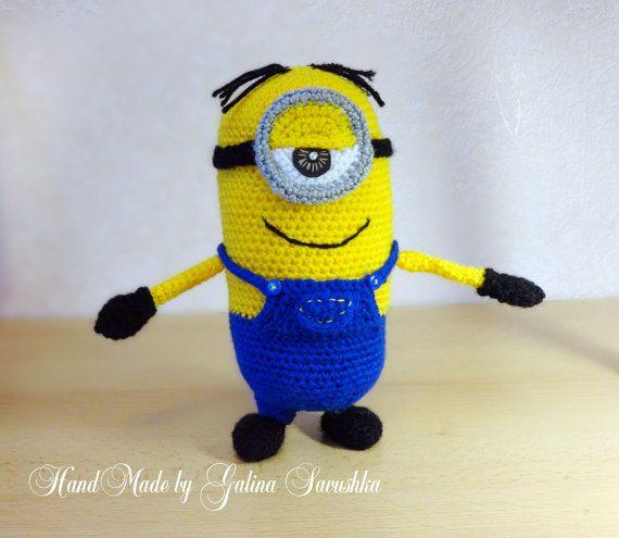 Crochet minion, Stuart Amigurumi toy-minion plush, films Minions, films Despicable me, doll Minion, Minion gift, Soft Toy Crochet