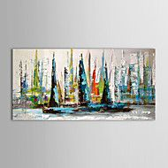 lukisan minyak kapal layar landskap dengan rangka... – USD $ 45.99
