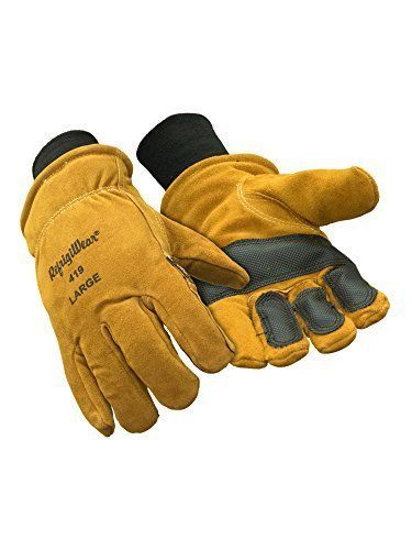 Leather Work Gloves XL Double Insulated Cowhide Leather Heavy Duty Safety Supply #SafetyProtectiveGear