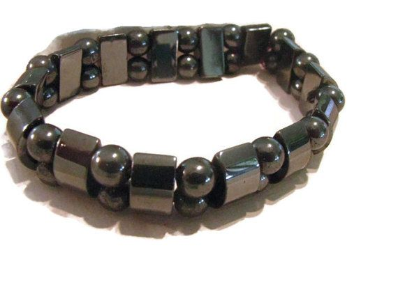 Hey, I found this really awesome Etsy listing at https://www.etsy.com/listing/189725778/hematite-beaded-bracelet-folklore