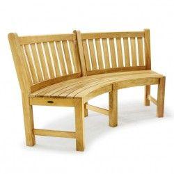 Buckingham Designer Teak Curved Bench - Westminster Teak Outdoor Furniture