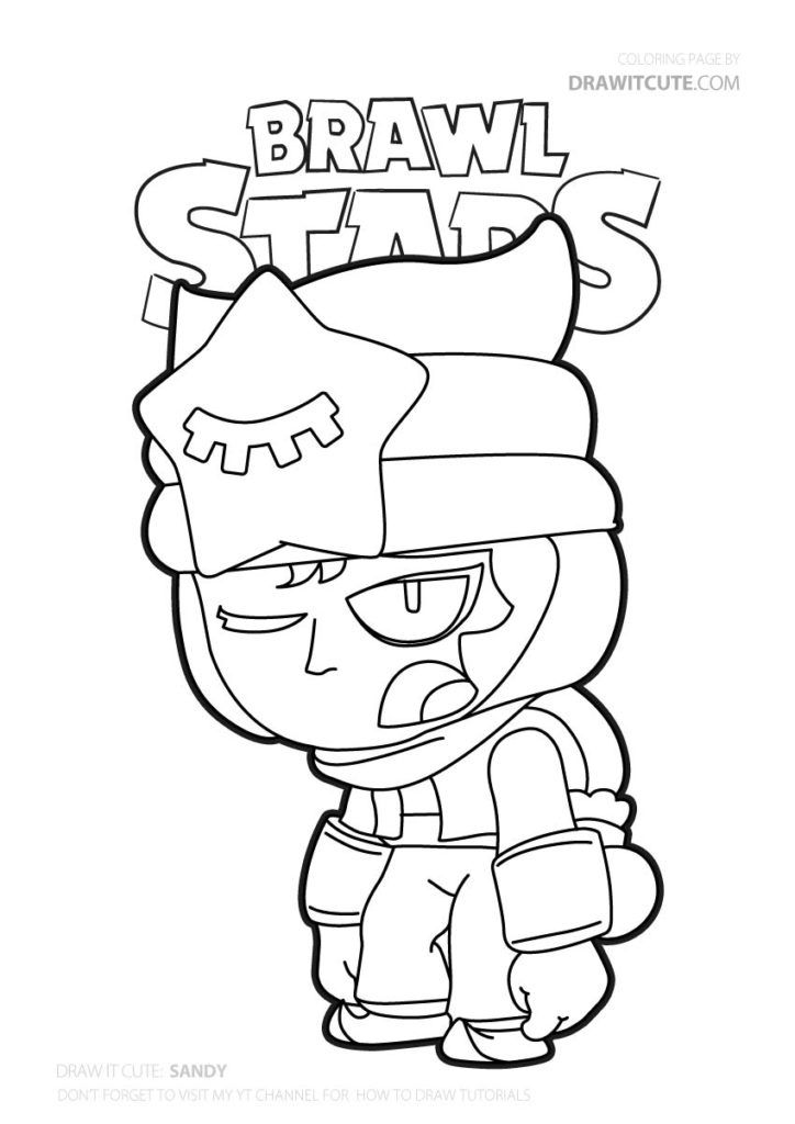 Sandy Brawl Stars Coloring Page Color For Fun Star Coloring Pages Coloring Pages Cool Coloring Pages