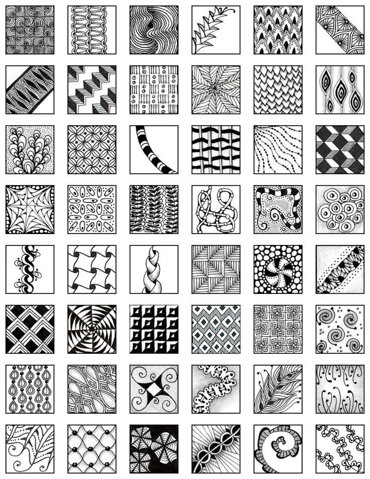 # Zentangle  My Zentangle Doodle Reference Sheet #1