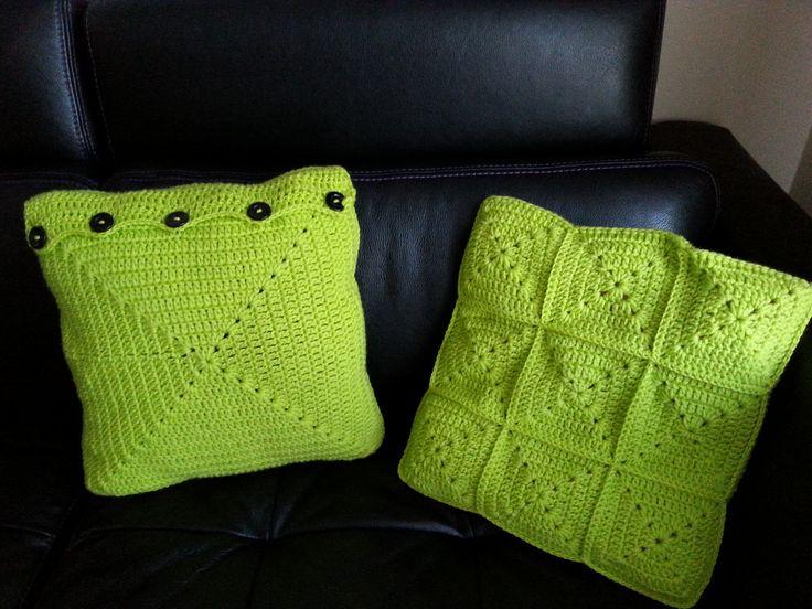 szydełkowe poduski, crochet pillow granny square