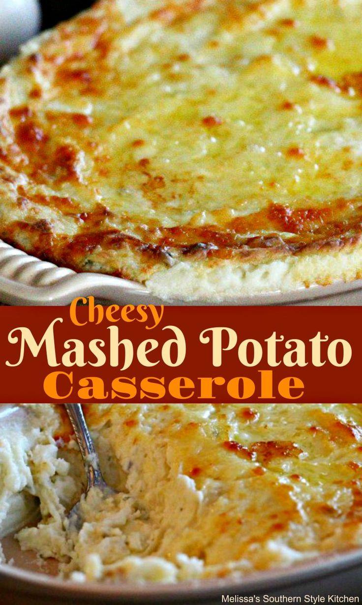 Cheesy Mashed Potato Casserole #casserole #potatocasserole #cheese