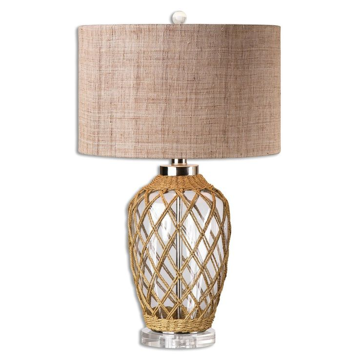 Glass Rope Net Table Lamp
