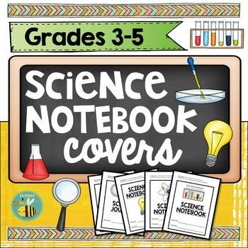 {FREEBIE} This resource includes 6 covers for interactive science notebooks. They are perfect for grades 3-5. Enjoy! ************************************************************************ If you like this product, please leave some feedback :). You will also receive FREE credits towards your