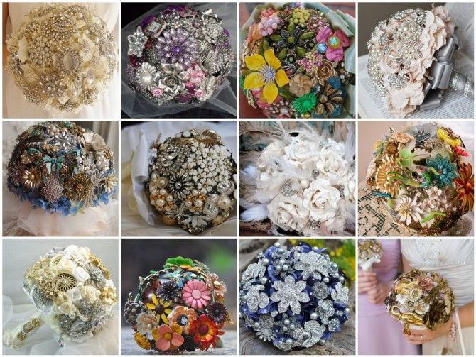 Jewelry bridal bouquets from etsy: Lark Crafts, Bridal Bouquets, Brooches Bouquets, Crafts Lark, Jewelry Bouquets, Bride Bouquets, Crafts Idea, Costume Jewelry, Vintage Jewelry Crafts
