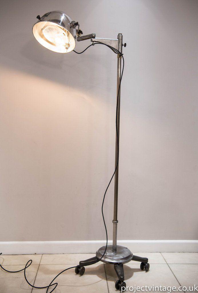 Vintage Dentist's Medical Floor Standing Lamp Dental Hohen