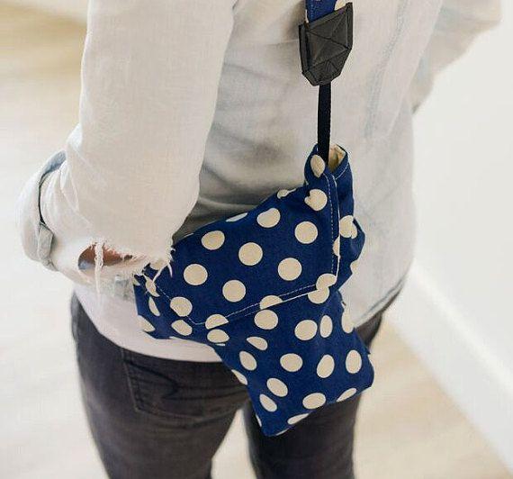 Camera Bags For Women Disneyland Travel Cute Navy Polka Dot