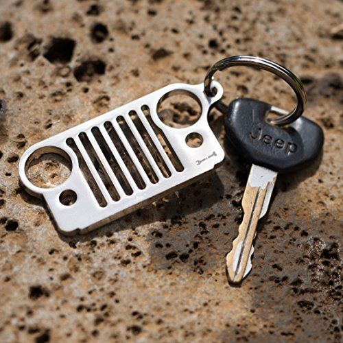 Laser Cut Stainless Steel Jeep Wrangler Grille Key Chain