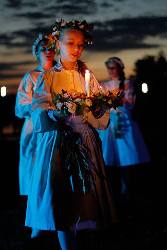 Sobótka - summer solstice celebrations in Poland. Photo taken by Paweł Rotmański.