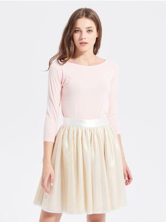 SINSAY - Bawełniana bluzka CLASSY&FABULOUS <br><br>Wzrost modelki: 176 cm<br>