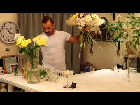 Легкий и парящий букет от Славы Роска специально для Александры Рашель - YouTube