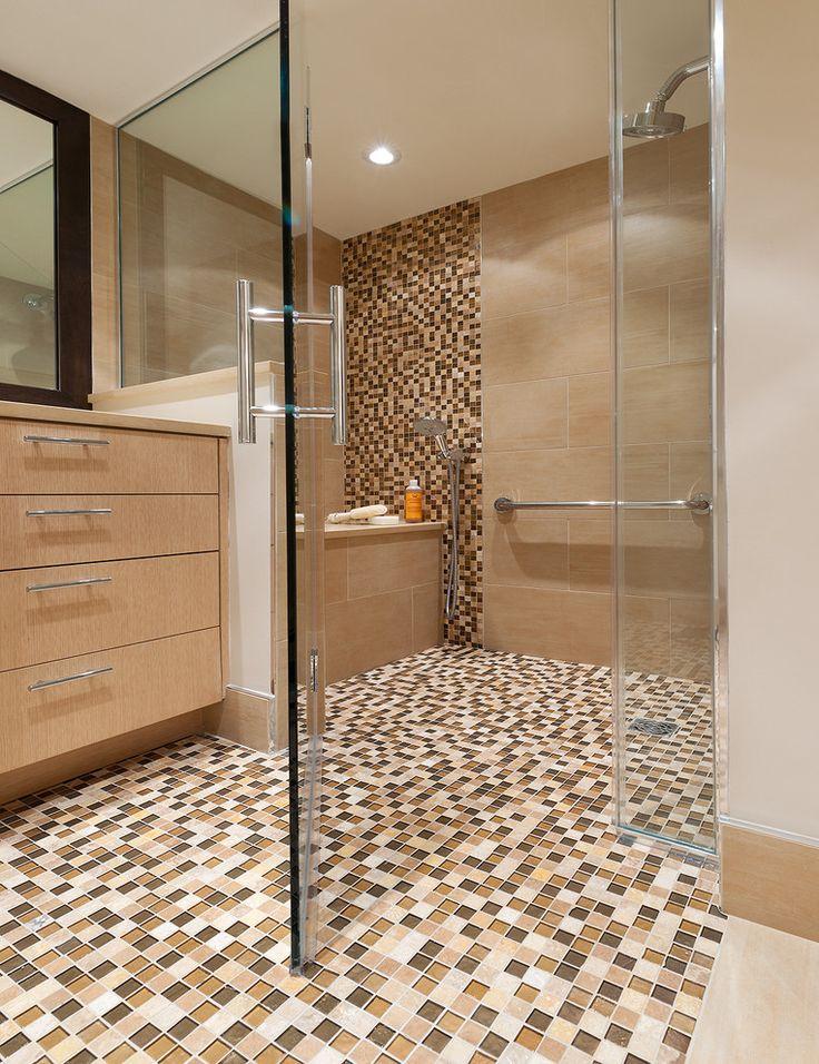 15 best tiles bathroom images on Pinterest | Tile bathrooms, White ...