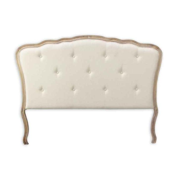 Tête de lit rustique en bois et tissu Rabito