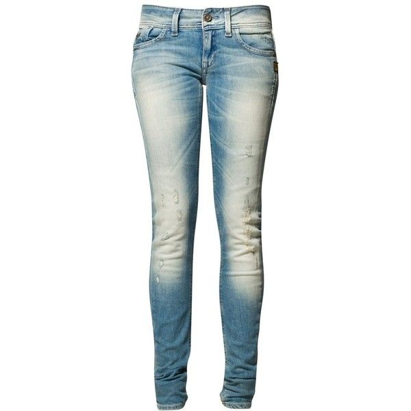 GStar LYNN SKINNY Slim fit jeans ($230) ❤ liked on Polyvore featuring jeans, pants, bottoms, calças, blue, slim fit, women's trousers, slim cut jeans, super skinny jeans and skinny jeans