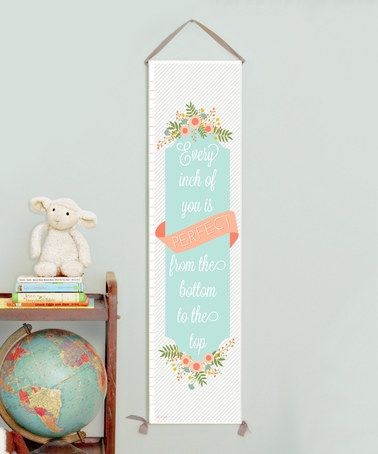 Look what I found on #zulily! 'Every Inch' Growth Chart #zulilyfinds