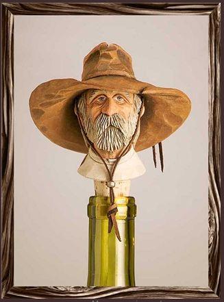 Cowboy Bottle Stopper: Scruffy