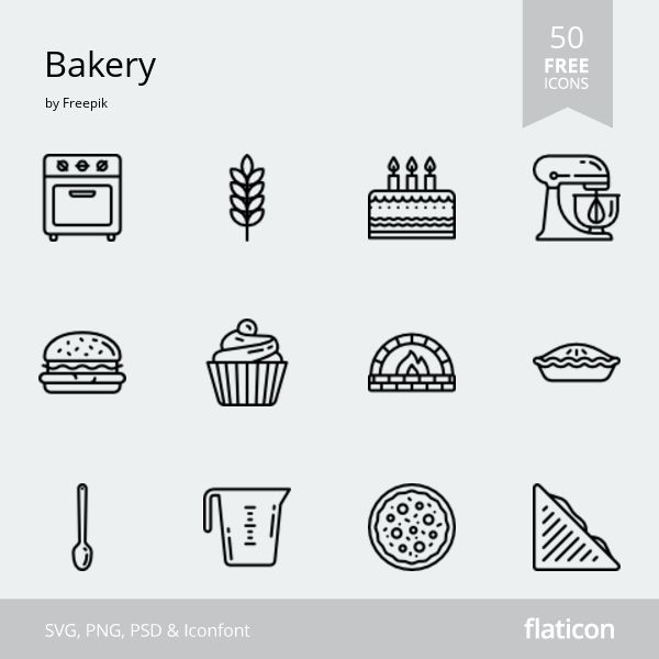 Bakery FREE ICONS PACK