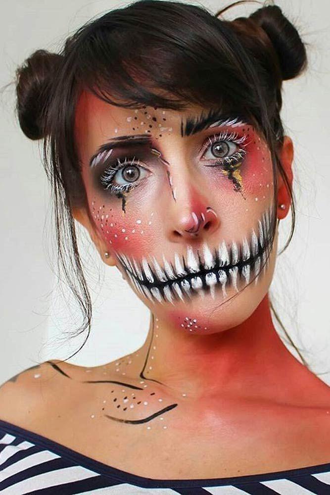 Картинки для рисования на лице на хэллоуин