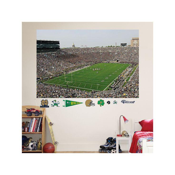 Fathead Notre Dame Fighting Irish Stadium Mural Wall Decals, Multicolor
