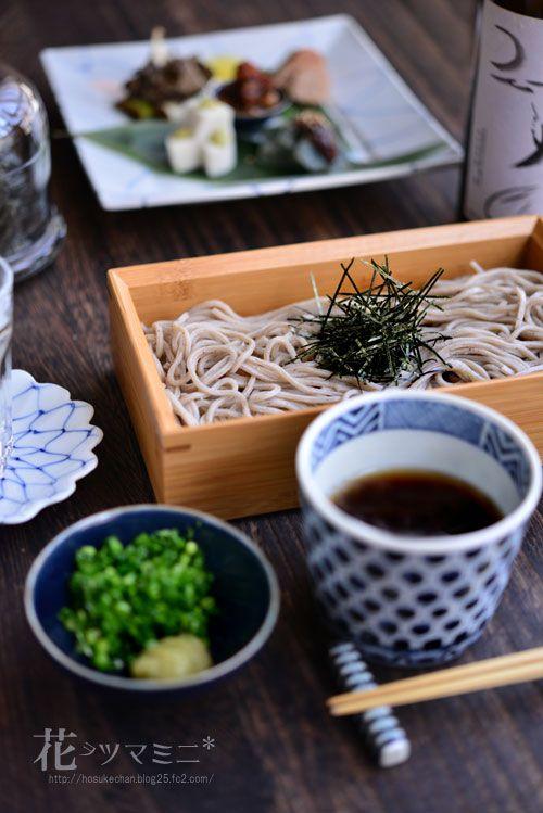 Japanese Soba noodle. Buckwheat noodle.