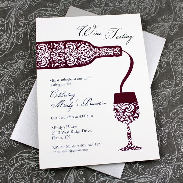 Wine Tasting Invitation Template | Download