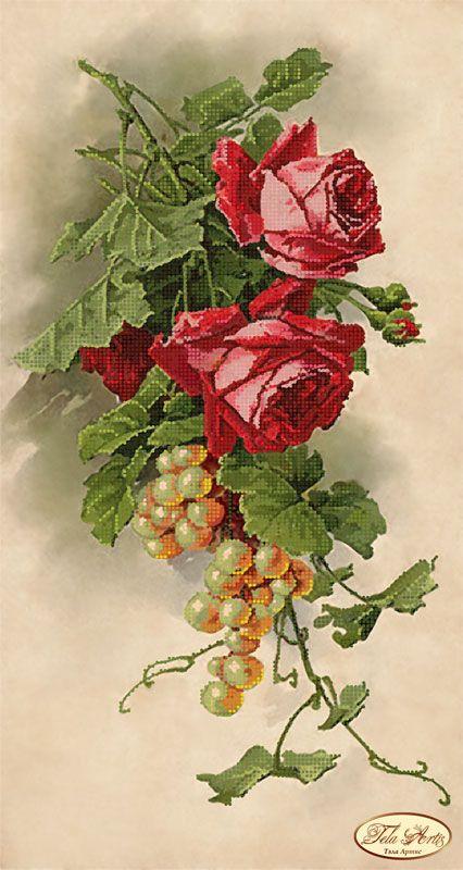 Розы и виноград ТК-024