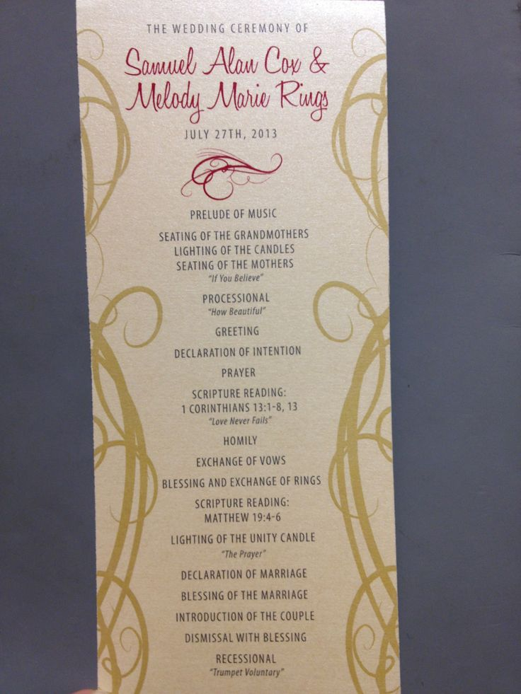 Our gold and maroon wedding programs designed