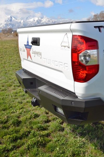 Aluminum rear bumper for Toyota Tundra. Made out of 3/16'' aluminum. MADE IN THE USA