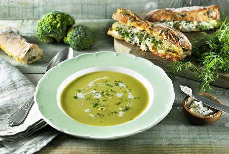 De combinaties die je met je SoupMaker kunt maken zijn eindeloos! Probeer bijvoorbeeld deze romige broccoli soep met kruidenroomkaas en dille.