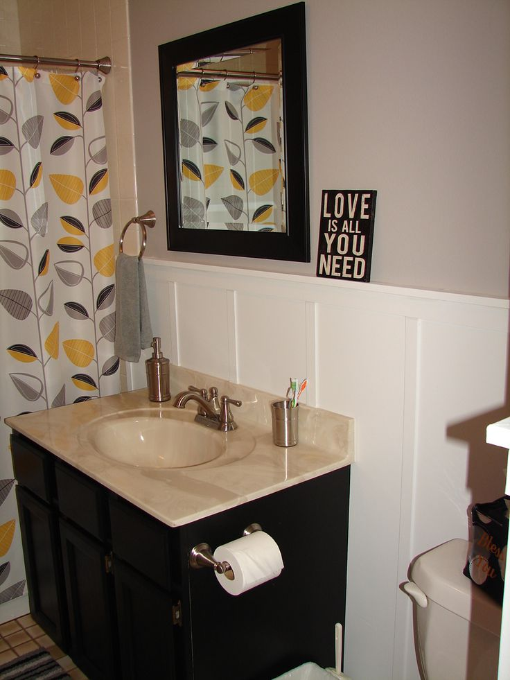 56 best Ideas for yellow and grey bathroom redo images on ...