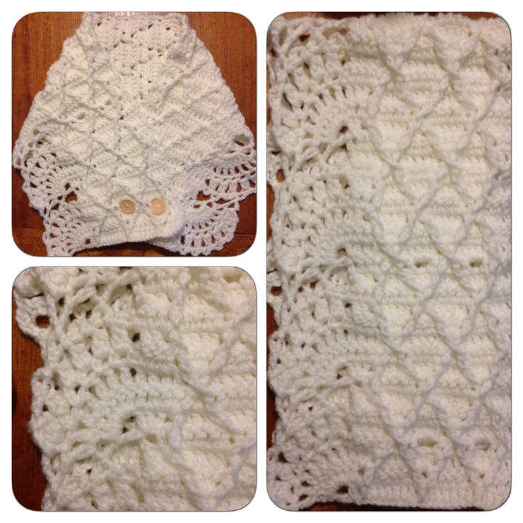 Crochet: Un cuello blanco invierno / Crochet: A winter white cowl