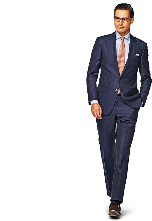 Suit Blue Plain Washington