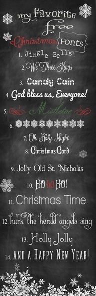 We Lived Happily Ever After...Free Christmas Fonts