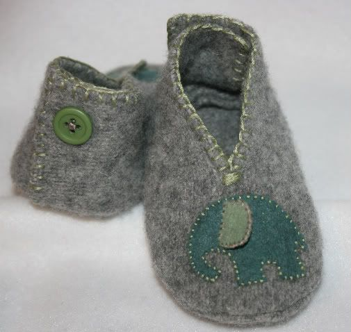 old sweater slippers