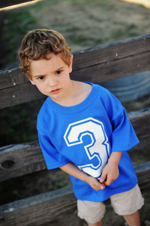 Sporty  Jersey  Birthday Tee for BoysFront Number by 2sweettees, $16.00