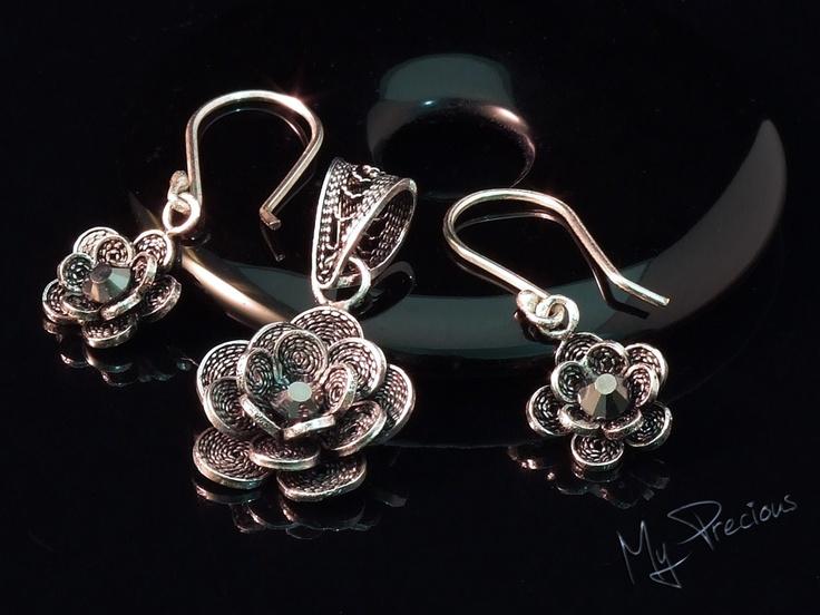 My Precious - Fine silver filigree set