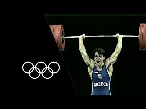 Most Decorated Olympic Weightlifter - Pyrros Dimas   Olympic Records - YouTube