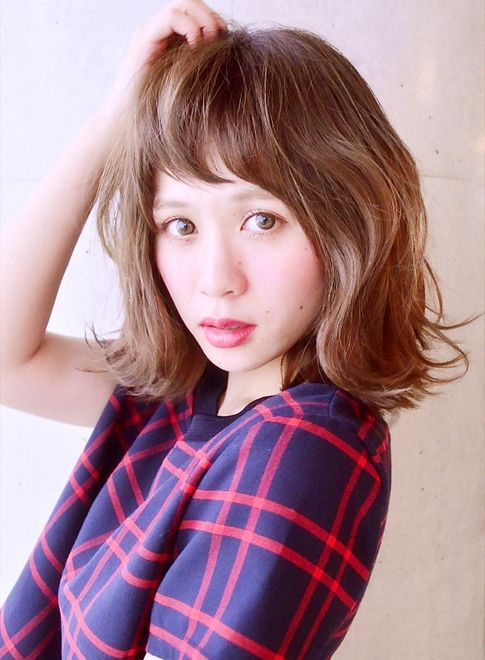 ゆるくしゃセミディ 【imaii linea】 http://beautynavi.woman.excite.co.jp/salon/26114?pint ≪ #mediumhair #mediumstyle #mediumhairstyle #hairstyle・ミディアム・ヘアスタイル・髪形・髪型≫