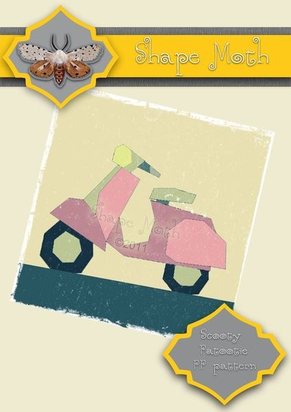 Vespa scooter sewing pattern pdf paper pieced PP