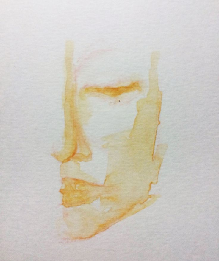 5 minuts drawing with watercolors.