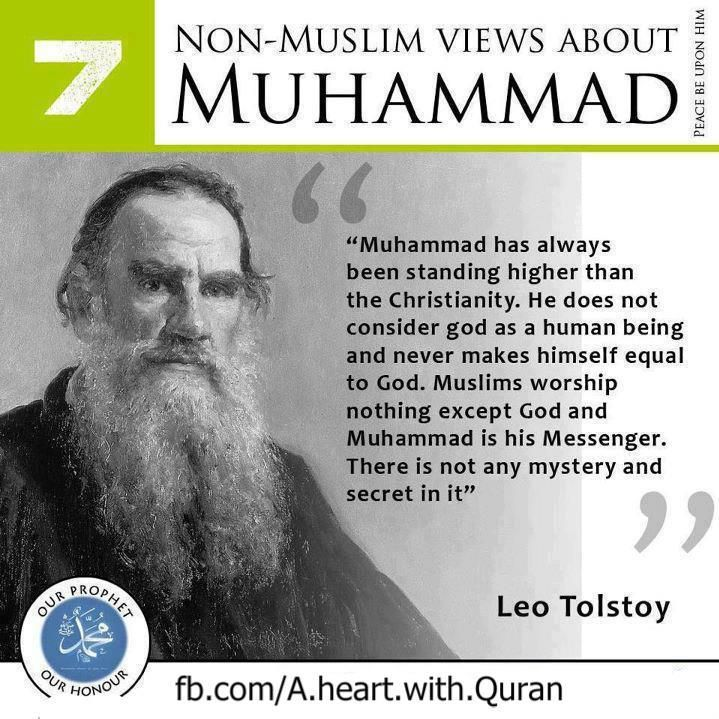 non muslim view about Holy Prophet Muhammad saw