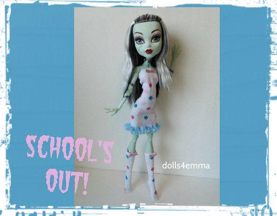 OOAK Monster High 17-inch Doll-kleding - kleding en sokken - handgemaakte aangepaste fashion door dolls4emma