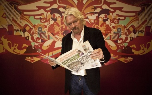 Richard Branson is to follow in the footsteps of Lady Gaga and Karl Lagerfeld as he guest edits Metro Global, the largest international newspaper in the world, on October 4th.
