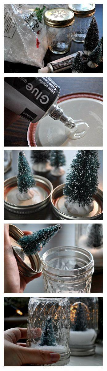 How to make DIY snow globes in a mason jar | Zelf sneeuwbol maken in een glazen pot #christmaholic