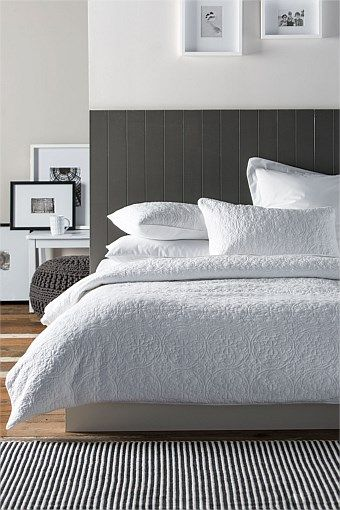 Montague Quilted Duvet Cover Set