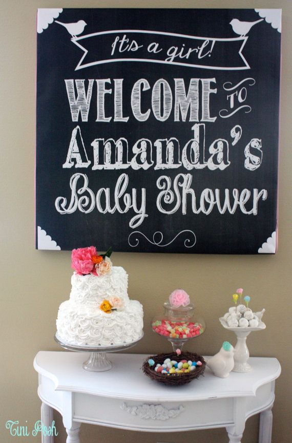 Welcome Baby Shower Sign (It's a Girl or It's a Boy) Digital file